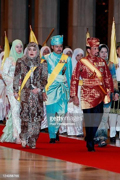 Royal Wedding of the Princess Majededah the daughter of the Sultan of Brunei Hassanal Bolkiah with Yag Mulia Pengiran In Brunei Darussalam On June 07...