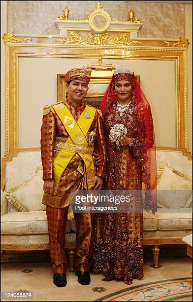 Royal Wedding of the Princess Majededah the daughter of the Sultan of Brunei Hassanal Bolkiahwith Yag Mulia Pengiran In Brunei Darussalam On June 10...