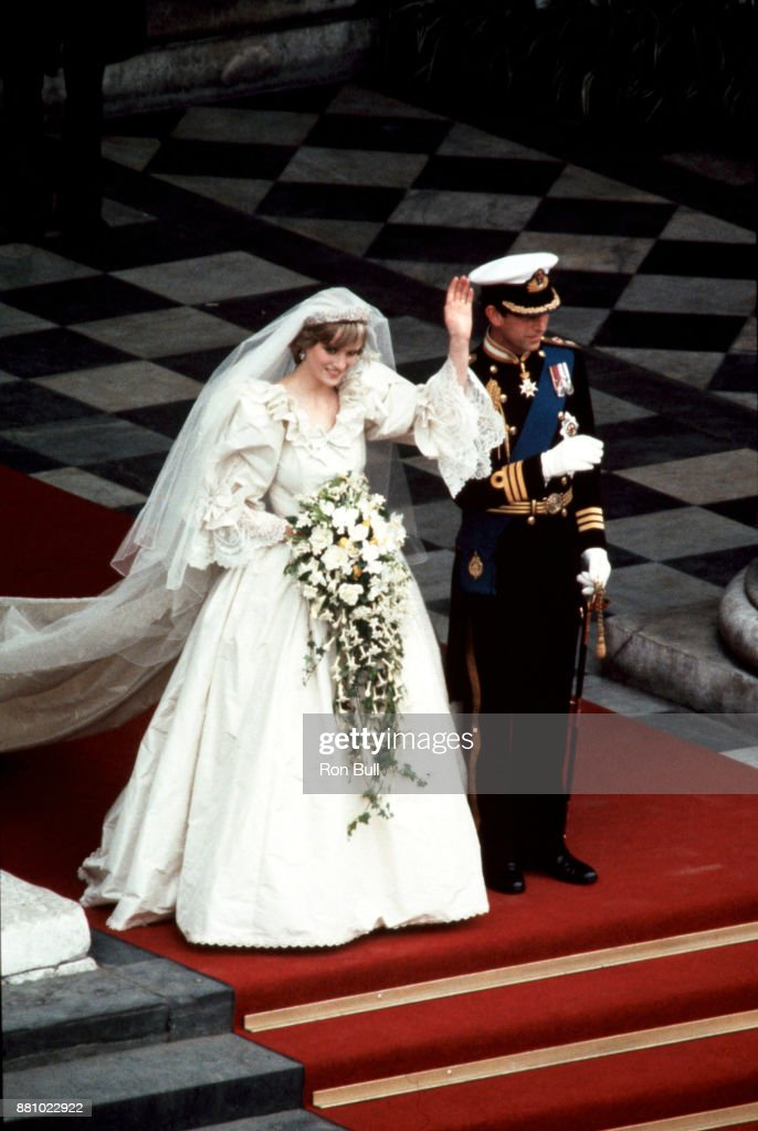 Royal Wedding, 1981, Prince Charles, Diana Princess of Wales : News Photo