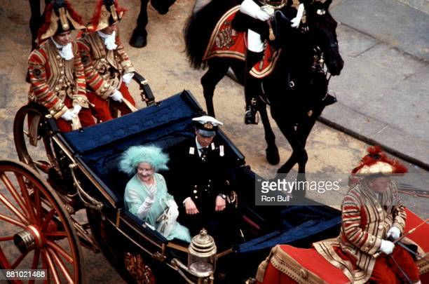 Royal Wedding Photo of the Queen Mother and Prince Andrew taken by Ron Bull July 29 1981