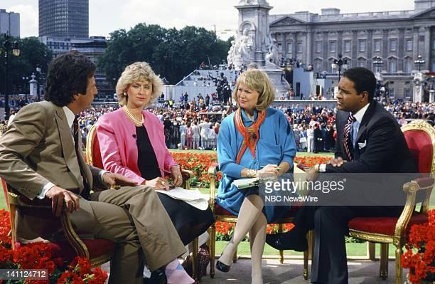 TODAY Royal Wedding Prince Andrew and Sarah Ferguson Pictured British historian Robert Lacey Vanity Fair Editorinchief Tina Brown NBC News' Jane...
