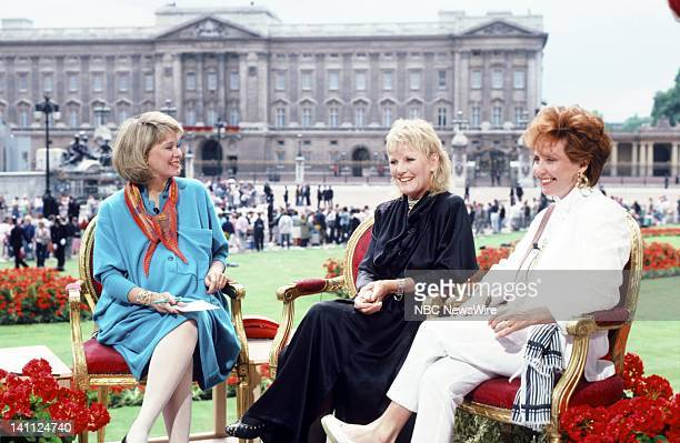 TODAY Royal Wedding Prince Andrew and Sarah Ferguson Pictured NBC News' Jane Pauley singers Petula Clark Lulu during the Royal Wedding of Prince...