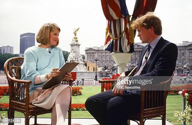 TODAY Royal Wedding Prince Andrew and Sarah Ferguson Pictured NBC News' Jane Pauley Viscount Charles Althorp Spencer reporting on the Royal Wedding...
