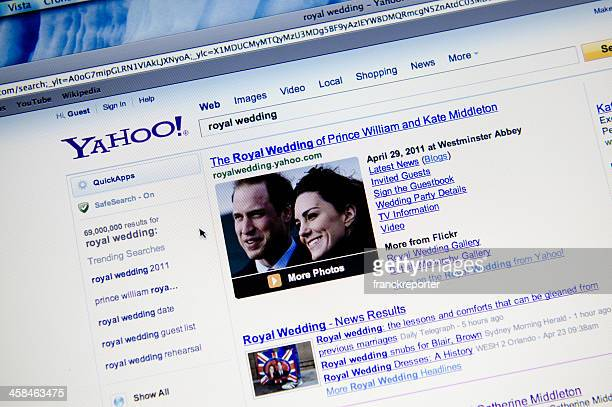 royal wedding result on yahoo.com search engine - yahoo images search stock pictures, royalty-free photos & images