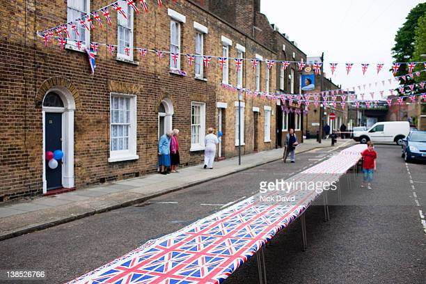 royal wedding street party - catherine duchess of cambridge photos stock pictures, royalty-free photos & images