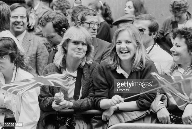 Royal well wishers gathered outside the Lindo Wing of St Mary's Hospital awaiting the departure of Charles, Prince of Wales and Diana, Princess of...