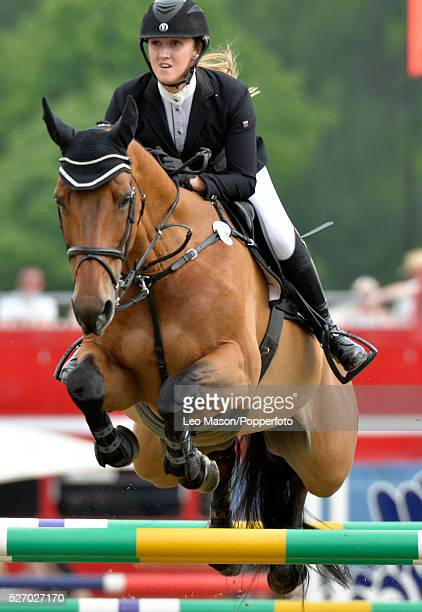 Royal Windsor Horse Show inside the private grounds of Windsor Castle UK International Class A Jumping Competition Chole Aston GB riding Kolibri...