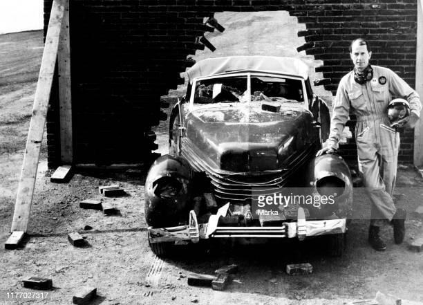 Royalex car after a crash test. 1969.