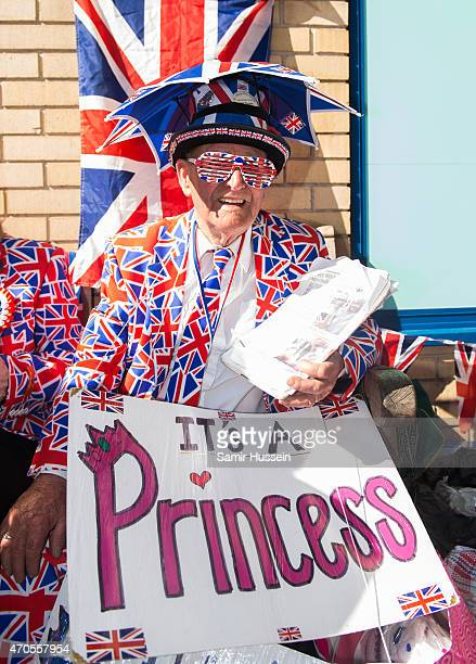 Royalist Terry Hutt waits outside the Lindo Wing of St Mary's Hospital as the UK prepares for the birth of the second child of The Duke and Duchess...