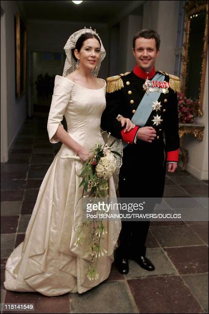 Royals arriving at the dinner offered to Prince Frederik and Mary Donaldson for their wedding in Copenhagen, Denmark on May 14, 2004 - Prince...