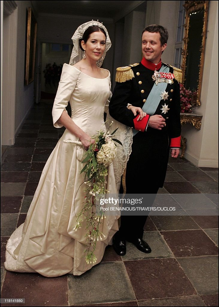 Royals arriving at the dinner offered to Prince Frederik and Mary Donaldson for their wedding in Copenhagen, Denmark on May 14, 2004 - Prince Frederik and Mary Donaldson.