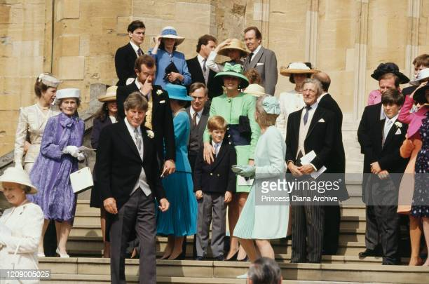 Royals at the wedding of Lady Helen Windsor and Timothy Taylor at St George's Chapel in Windsor, 18th July 1992. Among them are Diana, Princess of...