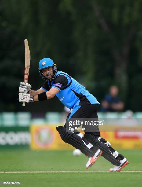 Royals batsman Callum Ferguson hits out during the Royal London One Day Cup match between Worcestershire and Leicestershire at New Road on May 29...
