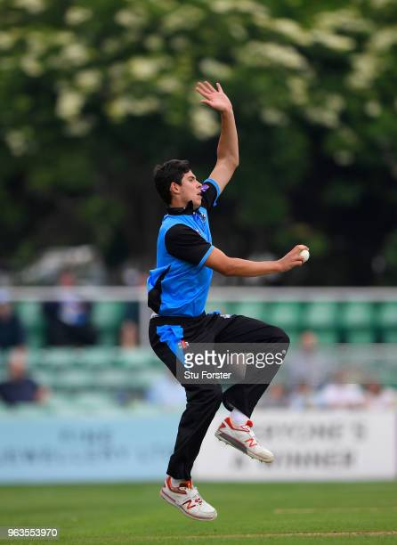 Royals bowler Patrick Brown in action during the Royal London One Day Cup match between Worcestershire and Leicestershire at New Road on May 29 2018...