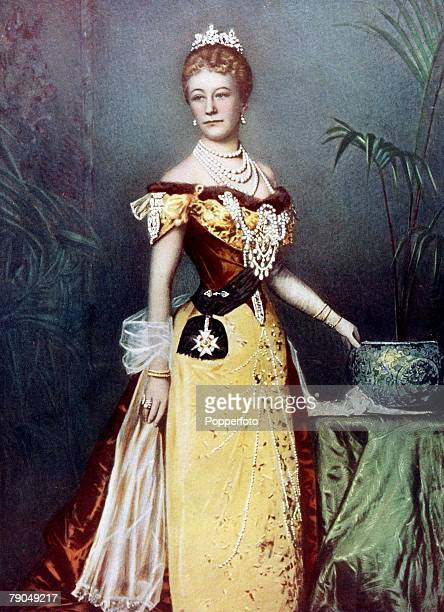 Royalty 19th Century A portrait of her Imperial Majesty Princess Augusta Victoria of SchleswigHolstein The German Empress