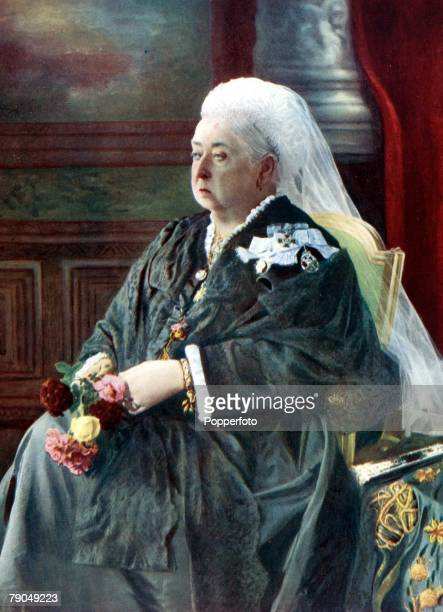 Royalty 19th Century A portrait of her Majesty Queen Victoria