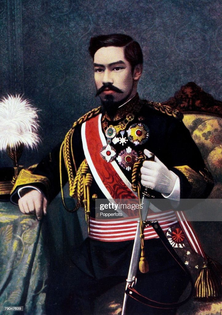Royalty. 19th Century. A portrait of his imperial Majesty Mutsuhito, the Emperor of Japan. : News Photo