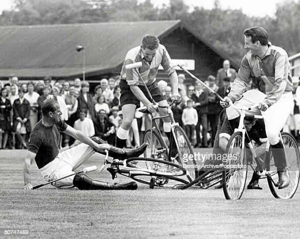 Royalty 7th August 1967 The Duke of Edinburgh Prince Philip switched to bicycle Polo he fell off three times and was involved with Sebastian de...