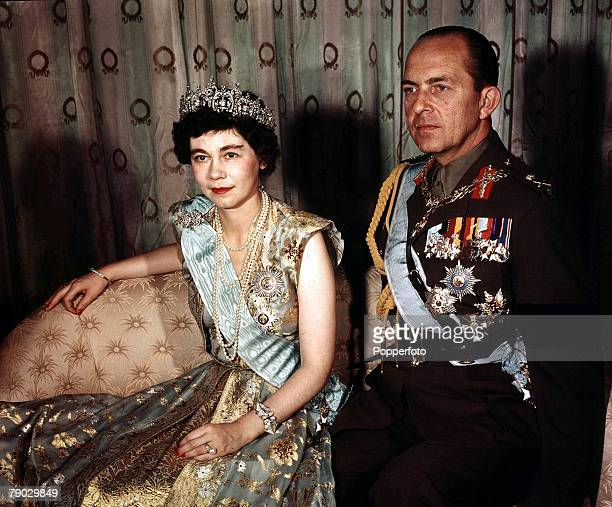 Royalty A portrait of King Paul and Queen Frederika of Greece