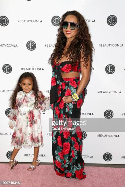 Royalty Brown and Nia Amey attend the Beautycon Festival LA 2018 at the Los Angeles Convention Center on July 15 2018 in Los Angeles California