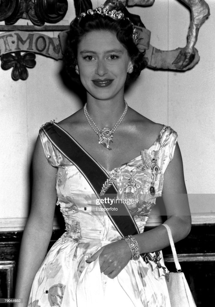 Royalty. Caribbean Tour. 1955. Princess Margaret at the garden party in the grounds of Government House at St. Kitts. : News Photo