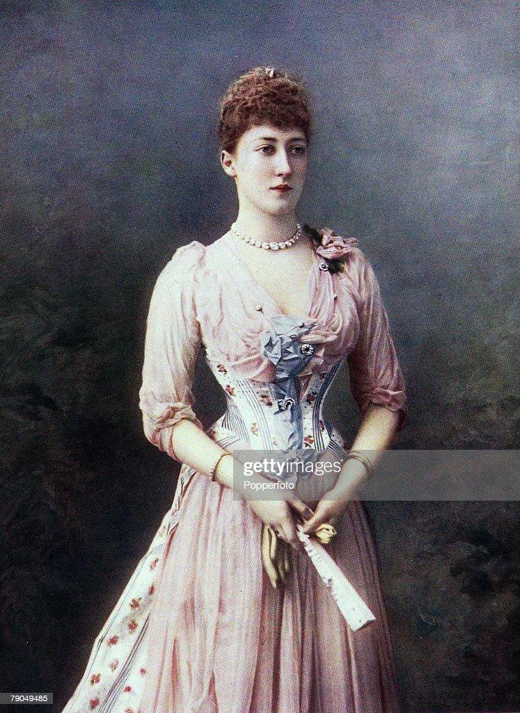Royalty. Circa 1900. Her Royal Highness Princess Louise, Duchess of Fife. : News Photo