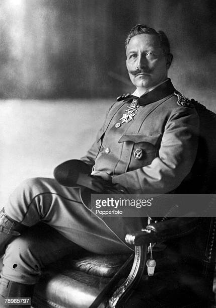 Royalty Circa 1910's German Emperor and King of Prussia Wilhelm II Shown here in Army Uniform