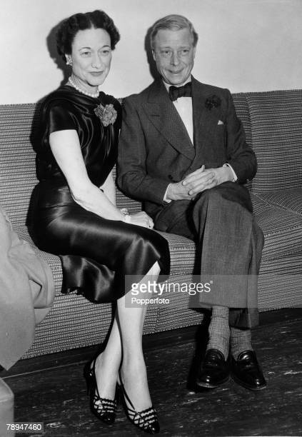 Royalty Circa 1937 The Duke and Duchess of Windsor sit together on a sofa