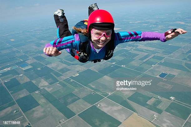 Royalty Free Stock Photo - Happy Woman Skydiver