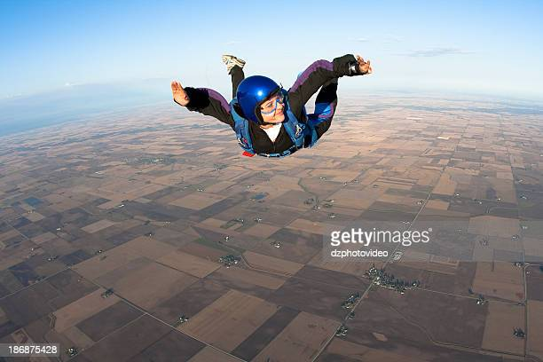 Royalty Free Stock Photo: Happy Woman Skydiver