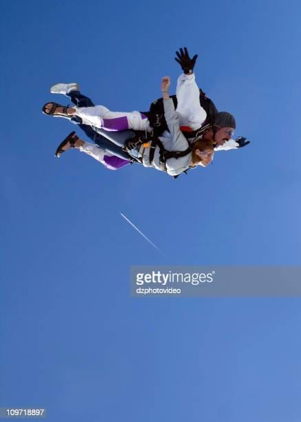 Royalty Free Stock Photo Of  Skydiving Tandem - Flight