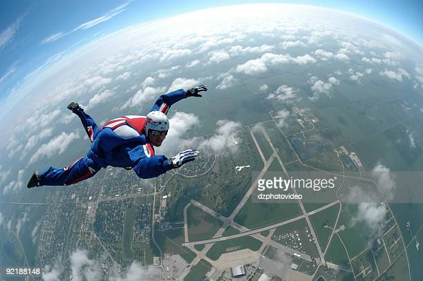 Royalty Free Stock Photo: Patriot Skydiver