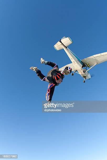 Royalty Free Stock Photo: Skydiver in Freefall
