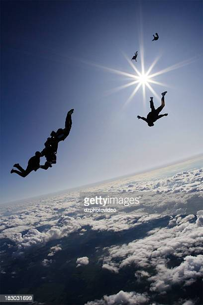 Royalty Free Stock Photo: Skydivers In Freefall