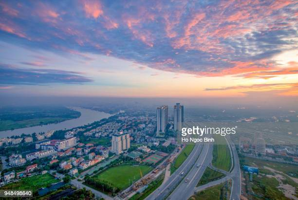 Royalty high quality free stock image aerial view of Ho Chi Minh city, Vietnam