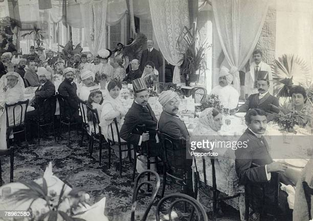 Royalty India Circa 1900's A banquet given by the Nawab of Sachin