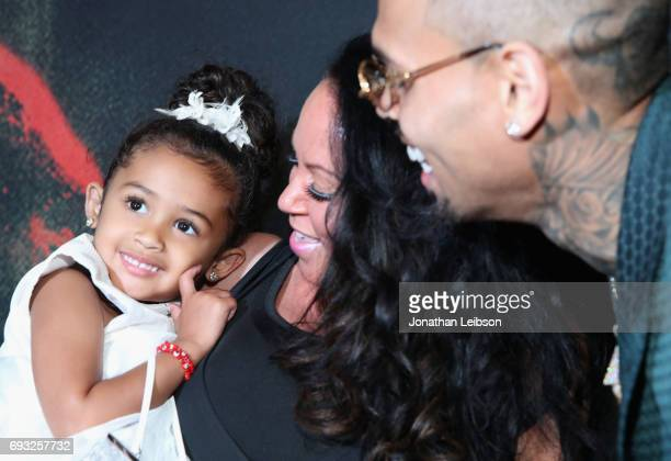 Royalty Joyce Hawkins and Chris Brown attend the Premiere Of Riveting Entertainment's Chris Brown Welcome To My Life at LA LIVE on June 6 2017 in Los...