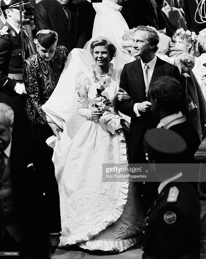 Royalty. Luxembourg. 6th February 1982. Princess Marie Astrid of Luxembourg marries Carl Christian Archduke of Habsburg. : News Photo