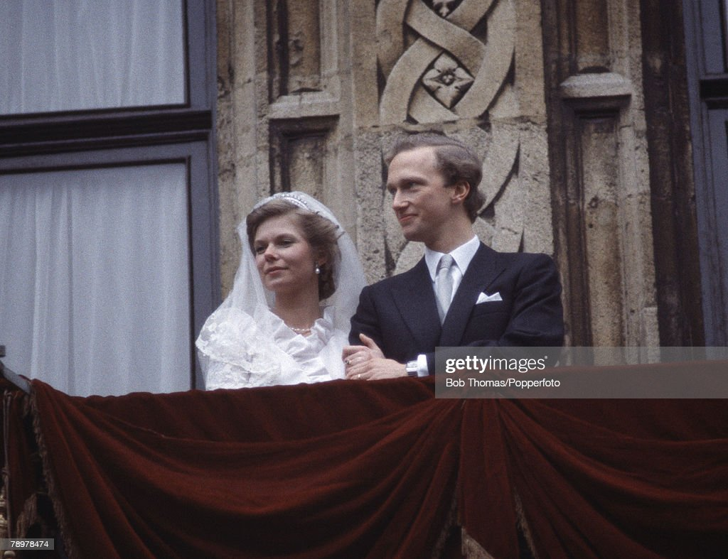 Royalty. Luxembourg. 6th February 1982. Princess Marie-Astrid marries Carl Christian, Archduke of Habsburg. : News Photo