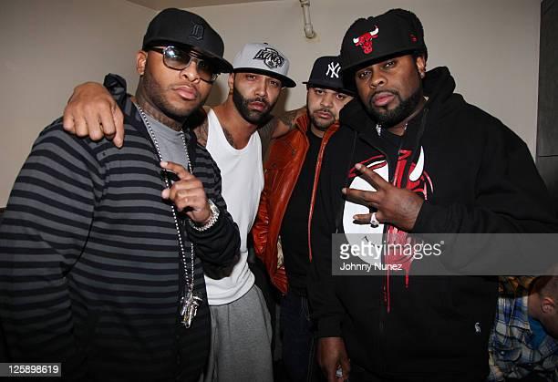 "Royce Da 5""9"", Joe Budden, Joell Ortiz, and Crooked I of rap group Slaughterhouse attend the Highline Ballroom on February 8, 2011 in New York City."