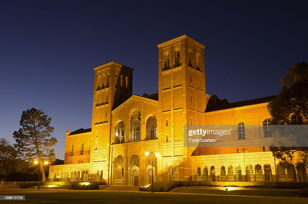 UCLA Royce Hall after Sunset : Stock Photo