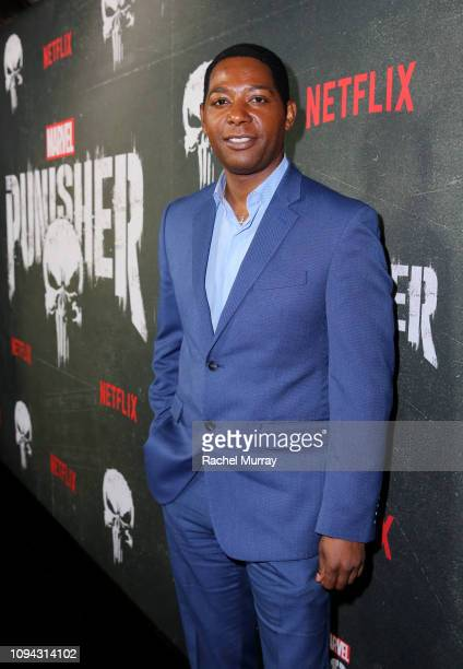 """Royce Johnson attends """"Marvel's The Punisher"""" Seasons 2 Premiere at ArcLight Hollywood on January 14, 2019 in Hollywood, California."""