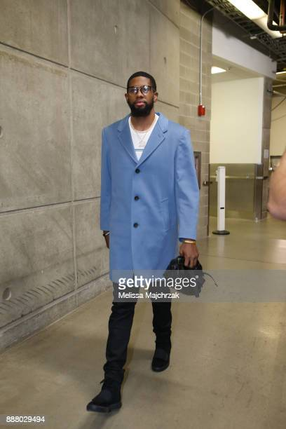 Royce O'Neale of the Utah Jazz arrives at the arena prior to the game against the Houston Rockets on December 7 2017 at VivintSmartHome Arena in Salt...