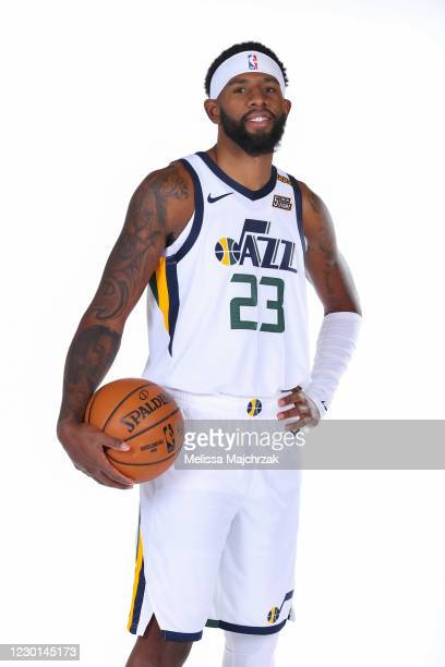 Royce O'Neale of the Utah Jazz pose for portraits during content day at vivint.SmartHome Arena on December 14, 2020 in Salt Lake City, Utah. NOTE TO...