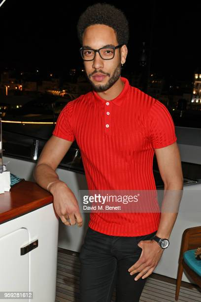 Royce Pierreson attends the Lark and Berry launch party on a private yacht during the 71st Cannes Film Festival on May 16 2018 in Cannes France