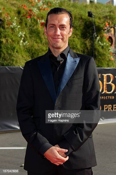 Royd Tolkien greatgrandson of JRR Tolkien arrives at the 'The Hobbit An Unexpected Journey' World Premiere at Embassy Theatre on November 28 2012 in...