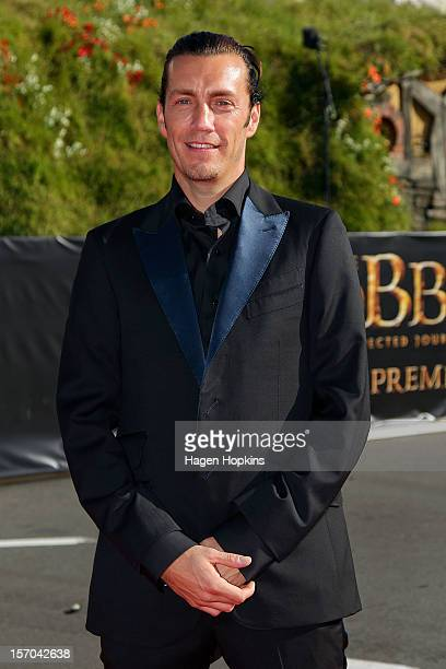 Royd Tolkien greatgrandson of JRR Tolkien arrives at the The Hobbit An Unexpected Journey World Premiere at Embassy Theatre on November 28 2012 in...