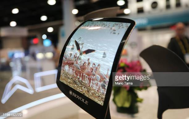 Royole FlexPai foldable smartphone is displayed at CES 2020 at the Las Vegas Convention Center on January 7 2020 in Las Vegas Nevada CES the world's...