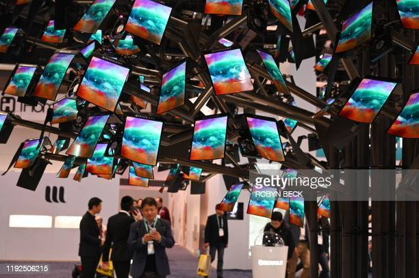 Royole FlexPai foldable smartphones are displayed at the January 7 2020 at the 2020 Consumer Electronics Show in Las Vegas Nevada