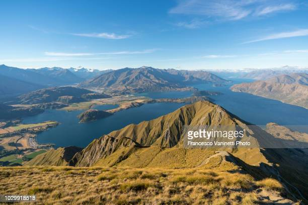 roys peak lookout, new zealand. - wilderness stock pictures, royalty-free photos & images